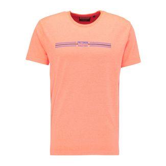 Petrol Industries T-Shirt Herren Fiery Coral