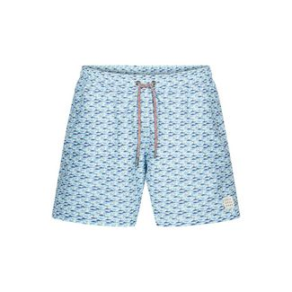Colours & Sons Animal-Print SIMON Badeshorts Herren shark