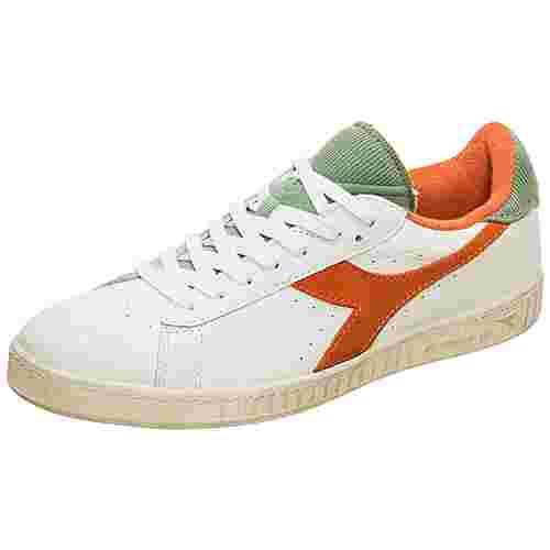 Diadora Game L Low Used Sneaker Herren weiß / orange