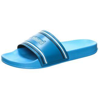 hummel Pool Slide Retro Sandalen Herren blau