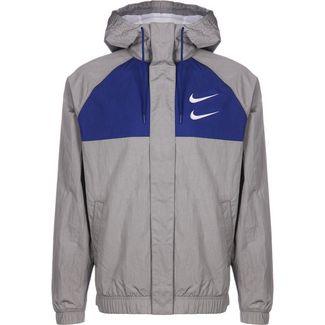 Nike Swoosh Hooded Outdoorjacke Herren grau / blau
