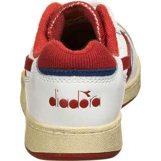 Diadora Basket MI Low Used Sneaker Herren weiß / rot