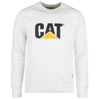 CATERPILLAR CAT Logo Roundneck Sweatshirt Herren weiß