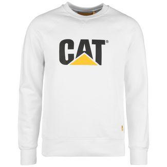 CATERPILLAR CAT Logo Roundneck Sweatshirt Herren weiß