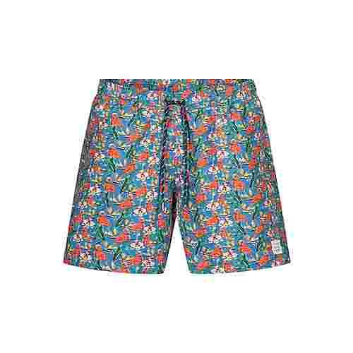 Colours & Sons Animal-Print SIMON Badeshorts Herren flamingo