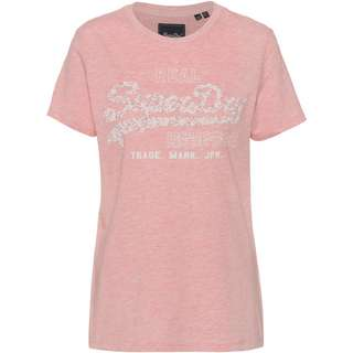 Superdry T-Shirt Damen soft pink marl