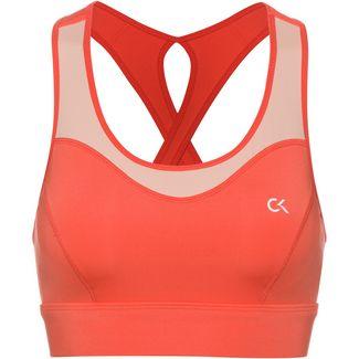 Calvin Klein Heritage Sport-BH Damen hot coral-peach bud
