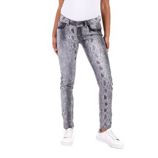 Blue Monkey LAURA Straight Fit Jeans Damen grey