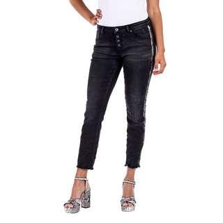 Blue Monkey ALEXIS Straight Fit Jeans Damen black