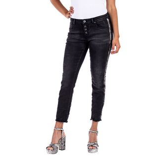 Blue Monkey ALEXIS Straight Fit Jeans Damen black