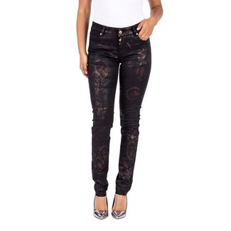 Blue Monkey MARY Straight Fit Jeans Damen black