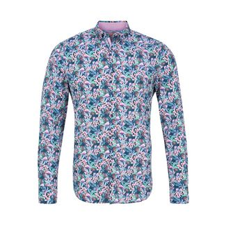 Colours & Sons Hemd Flower-Print ISAAC Langarmhemd Herren multi-flower