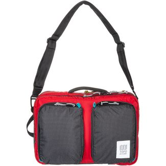 Topo Designs Global Briefcase 3-Day Laptoptasche red-black ripstop