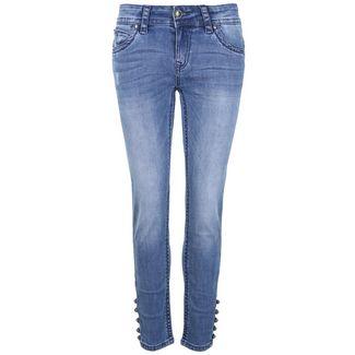 Blue Monkey Laura 30148 Straight Fit Jeans Damen blau