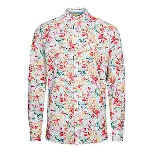 Colours & Sons Hemd Flower-Print HAROLD Langarmhemd Herren souk flower