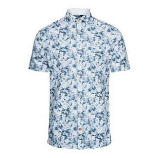 Colours & Sons Flower-Print SHORTY Langarmhemd Herren blue flowers