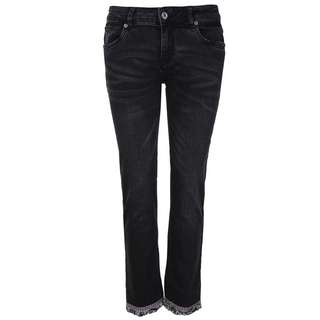 Blue Monkey Honey 10403 Straight Fit Jeans Damen black