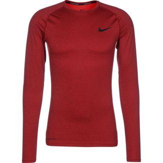Nike Pro Tight Langarmshirt Herren rot