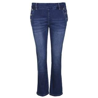 Blue Monkey Carry 10405 Straight Fit Jeans Damen blau