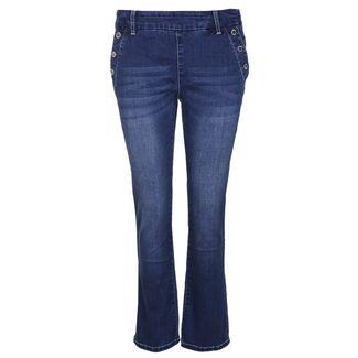 Blue Monkey Carry 10405 Straight Fit Jeans Damen blau