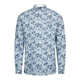 Colours & Sons Hemd Flower-Print LOUIS Langarmhemd Herren blue flowers