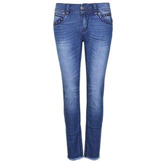 Blue Monkey Stacy 30138 Straight Fit Jeans Damen blau