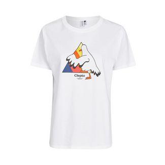 Cleptomanicx Step Into Printshirt Damen White