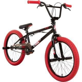 DeTox Freestyle 20 Zoll BMX Rad mit Pegs BMX schwarz/rot