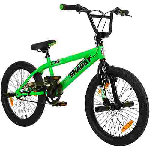 "DeTox Big Shaggy 20"" BMX Rad 4 Pegs Bike BMX Grün Schwarz"