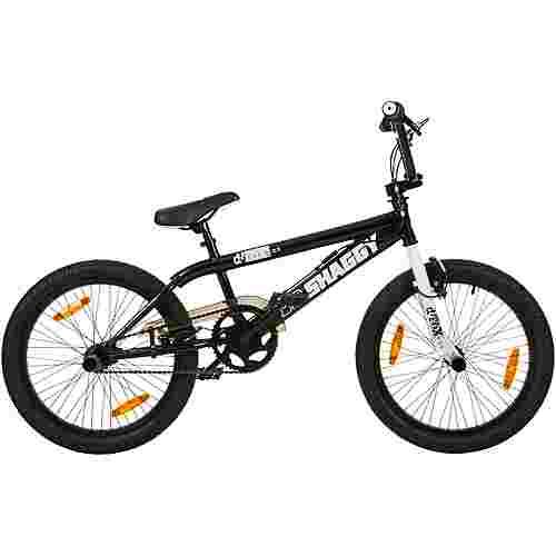 "DeTox Big Shaggy 20"" BMX Rad 4 Pegs Bike BMX schwarz/weiß"