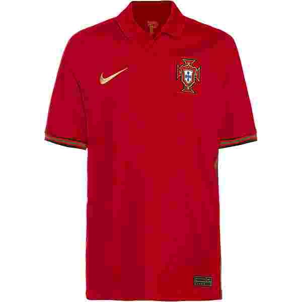 Nike Portugal 2021 Heim Trikot Kinder gym red-metallic gold