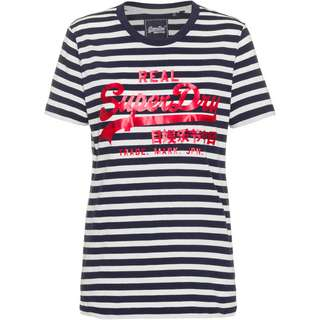 Superdry T-Shirt Damen navy stripe