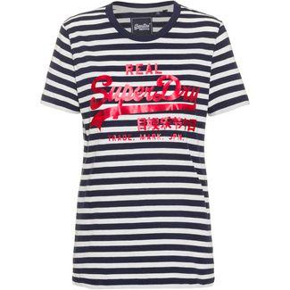 Superdry T-Shirt Damen navy stripe