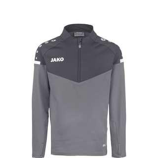 JAKO Champ 2.0 Ziptop Funktionssweatshirt Kinder grau / dunkelgrau