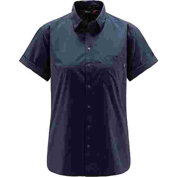 Haglöfs Idun Lite SS Shirt Outdoorhemd Damen Tarn blue