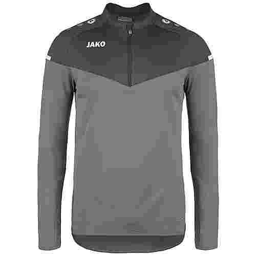 JAKO Champ 2.0 Ziptop Funktionssweatshirt Herren grau / dunkelgrau
