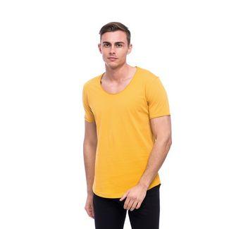 Tom Barron Rundhalsshirt mit Kurzarm T-Shirt Herren gelb