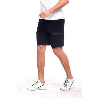 Tom Barron Reißverschluss Design Shorts Shorts Herren schwarz