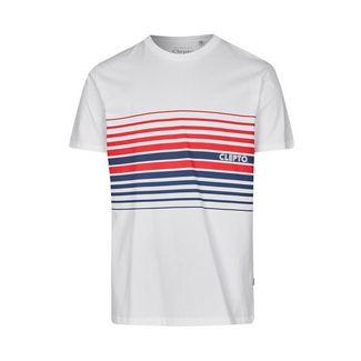 Cleptomanicx Printshirt Herren White