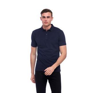 Tom Barron Elegantes Kurzarm Polo Shirt Poloshirt Herren dunkelblau