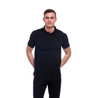 Tom Barron Elegantes Kurzarm Polo Shirt Poloshirt Herren schwarz