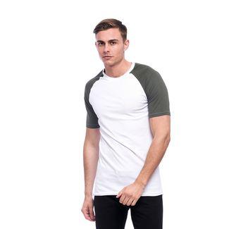 Tom Barron Rundhalsshirt mit Kurzarm T-Shirt Herren weiß/grün