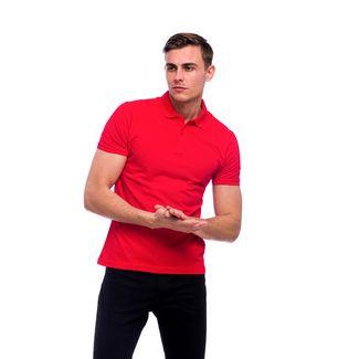 Tom Barron Elegantes Kurzarm Polo Shirt Poloshirt Herren rot