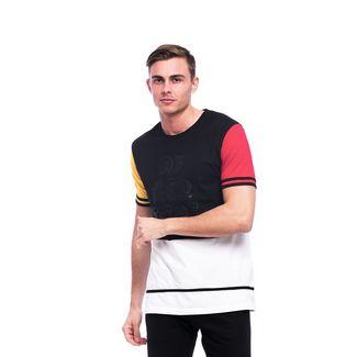 Tom Barron Rundhalsshirt mit Kurzarm T-Shirt Herren schwarz/rot