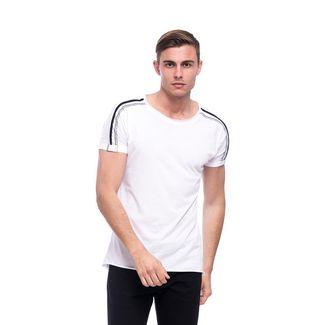 Tom Barron Rundhalsshirt mit Kurzarm T-Shirt Herren weiß