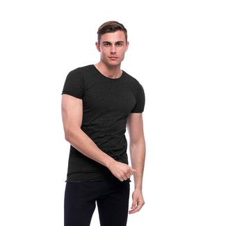 Tom Barron Basic Rundhalsshirt T-Shirt Herren schwarz