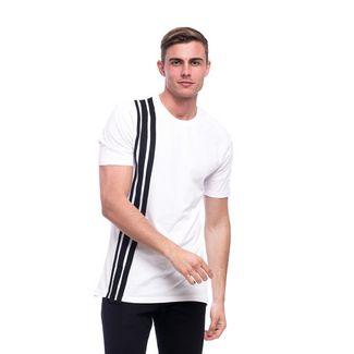 Tom Barron Rundhalsshirt mit Kurzarm T-Shirt Herren weiß/schwa