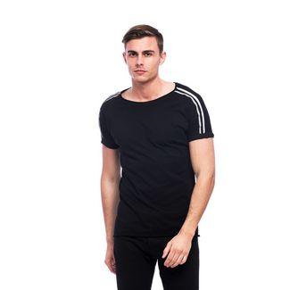 Tom Barron V Ausschnittshirt mit Kurzarm T-Shirt Herren schwarz