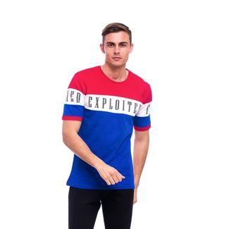 Tom Barron Rundhalsshirt mit Kurzarm T-Shirt Herren blau/rot