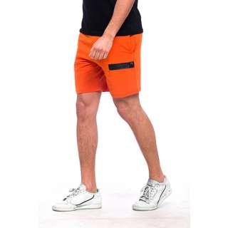 Tom Barron Reißverschluss Design Shorts Shorts Herren orange